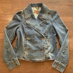 Levi Strauss Denim Jacket Blazer Blue Washed M